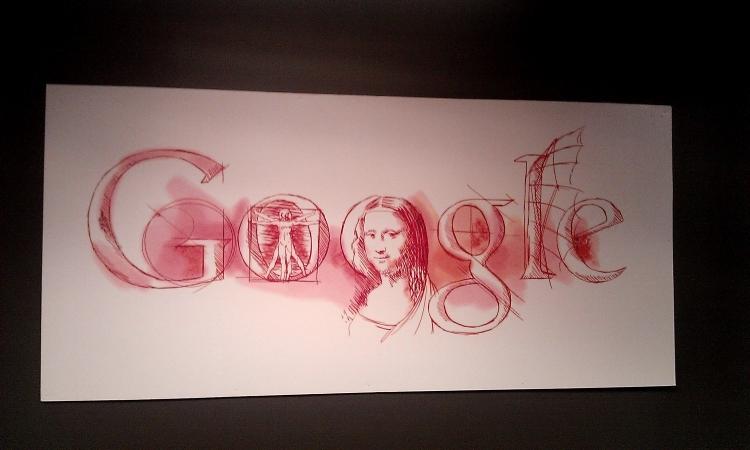 рисованый логотип гугл
