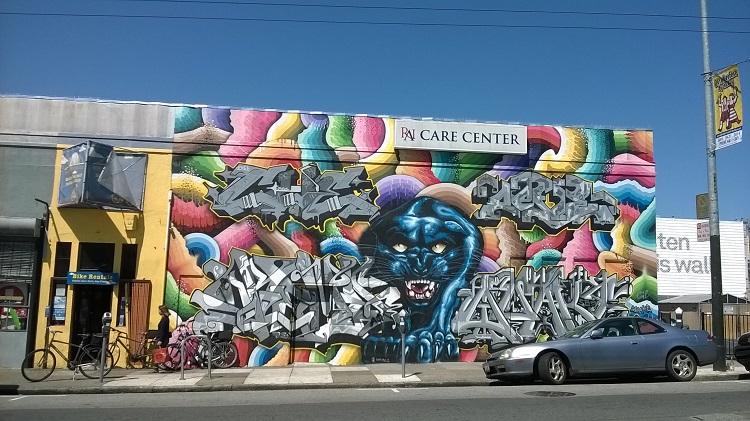 граффити пантера