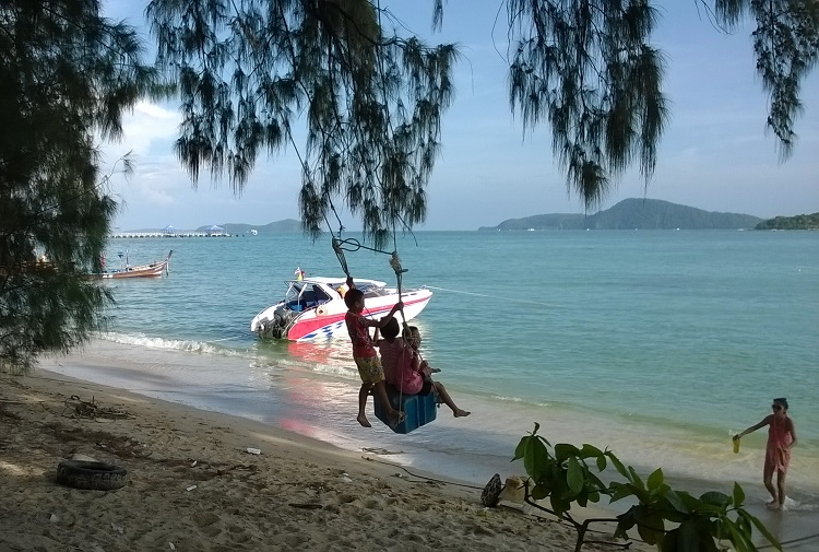 качеля пляж таиланд