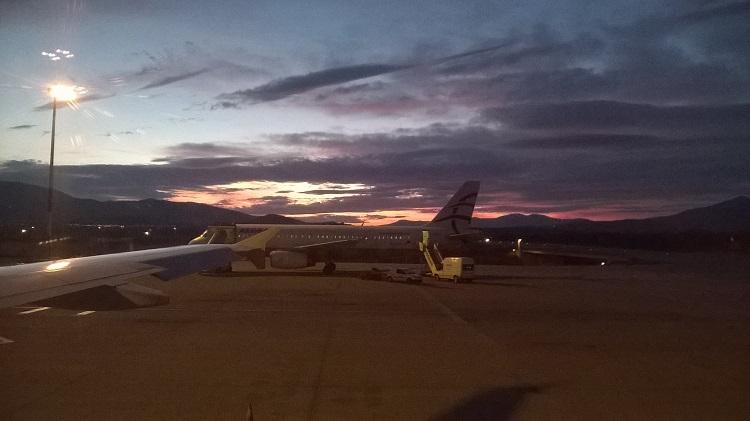 закат афины аэропорт